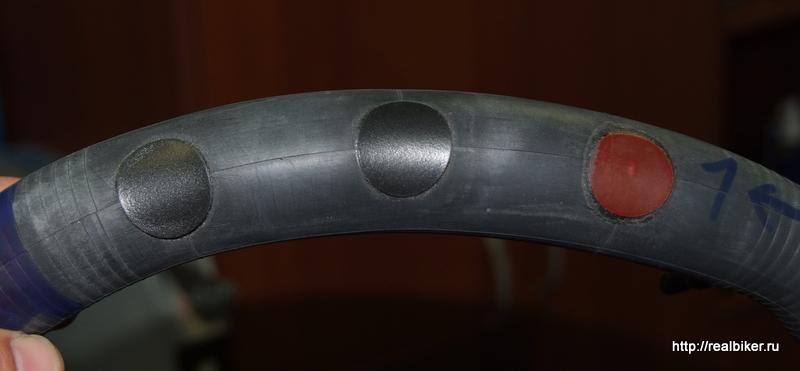 Тест самоклеющихся заплаток для велокамер DSCF0455