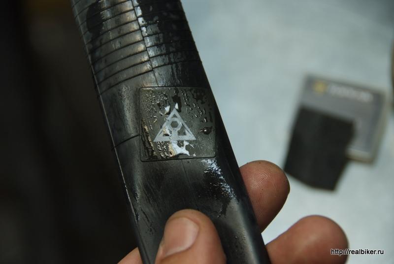 Тест самоклеющихся заплаток для велокамер Dscf0435