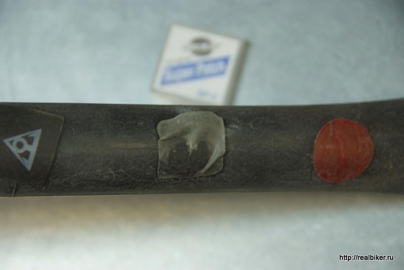 Тест самоклеющихся заплаток для велокамер Dscf0448